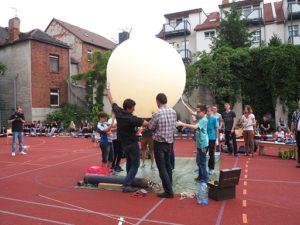 Start des Wetterballongs mit myDatalogMUCmini