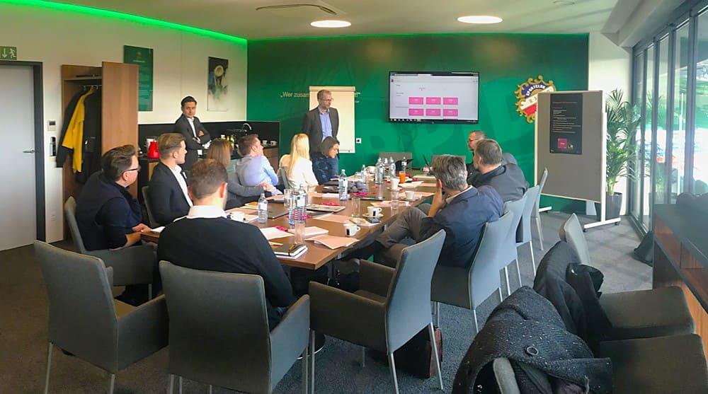Workshop T-Mobile und Microtronics im Allianz Stadion