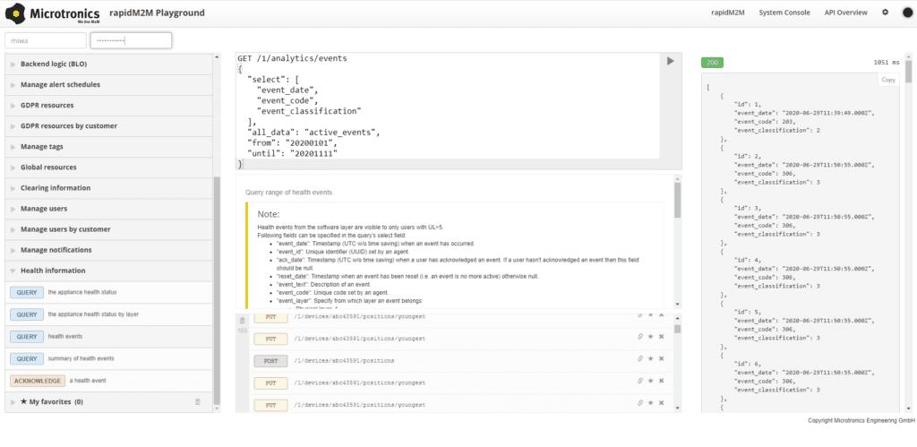 Einblick in die Health API am Playground