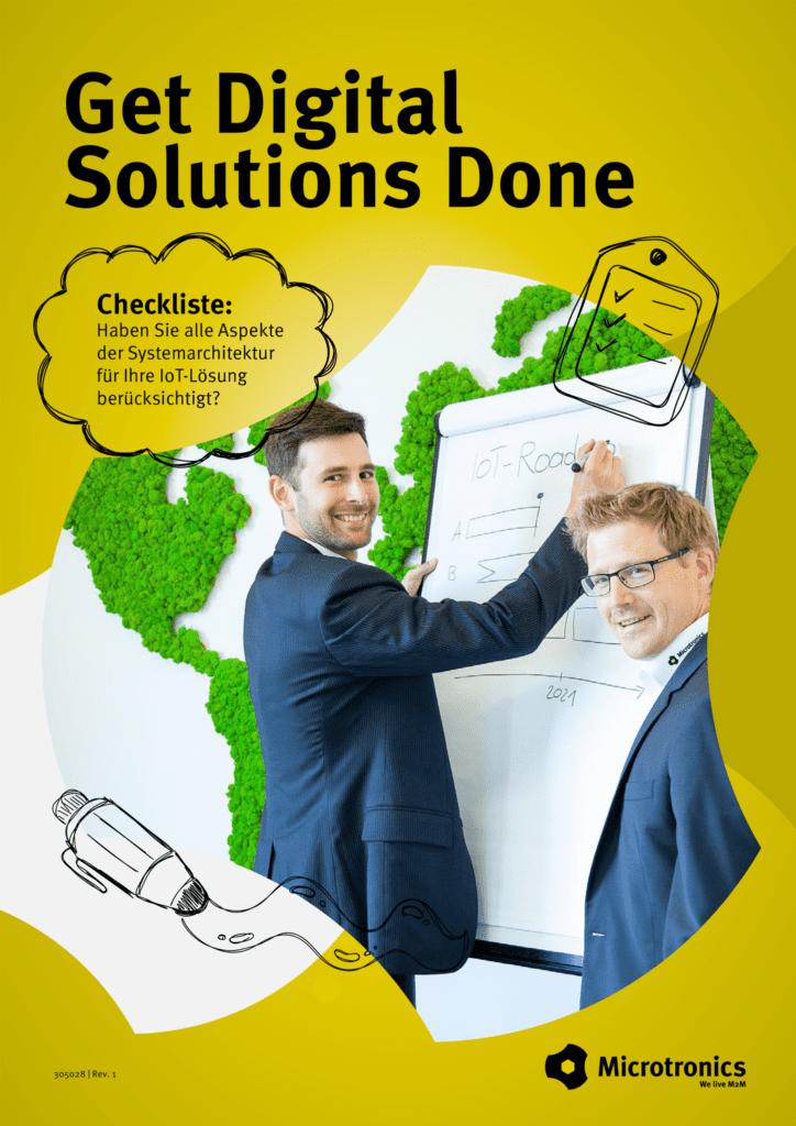 Advisory - Get Digital Solutions Done - Systemarchitektur Checkliste - Titelblatt
