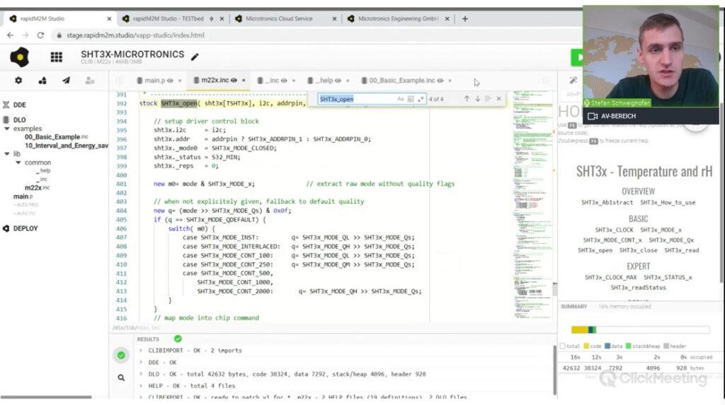 Webinar / Demo rapidM2M Studio